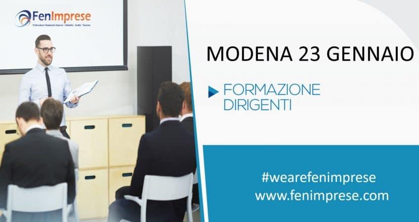 Iniziano le sessioni formative per i Dirigenti FenImprese prima data 23 gennaio a Modena