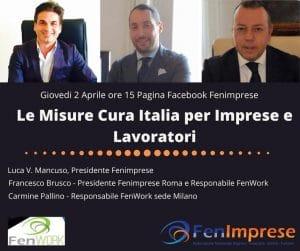 """FenImprese non si ferma: Vuoi conoscere il decreto """"Cura Italia"""" domani seguici sulla pagina facebook: FenImprese nazionale"""