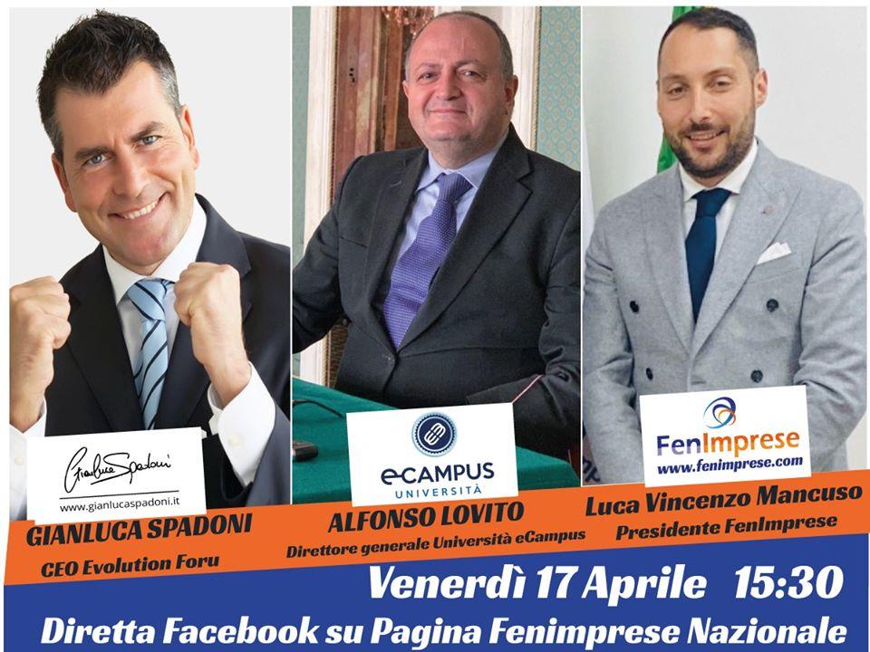 Venerdi 17 ore 15:30 diretta Facebook con Gianluca Spadoni – Alfonso Lovito e il nostro Presidente Luca Mancuso
