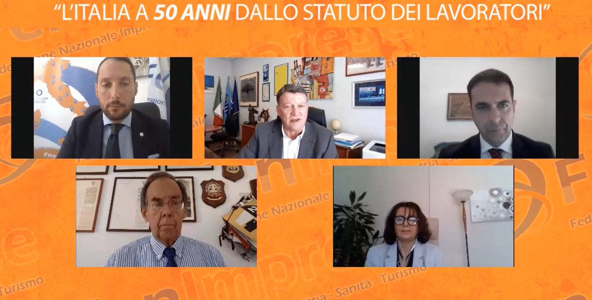 """""""L'Italia a 50 anni dallo Statuto dei Lavoratori"""" ne parliamo con Pierpaolo Bombardieri Segretario Generale Aggiunto UIL Nazionale, membri del Cnel  e di altri illustri ospiti"""