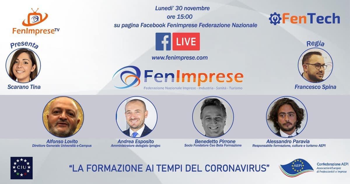 """La formazione ai tempi del coronavirus"""" ne parliamo con i maggiori players italiani."""
