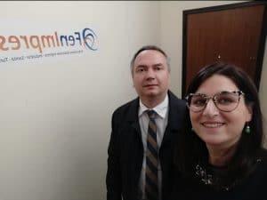 Il Presidene Fenimprese di Vibo Valentia Nancy Ramondino, e l'On. Santacroce incontrano il Console Generale d'Ucraina