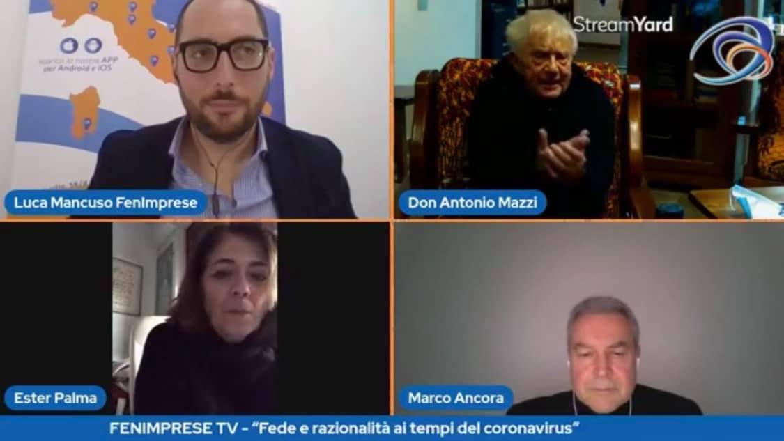 """""""Fede e razionalità ai tempi de coronavirus"""" con Don Antonio Mazzi e altri ospiti di altissimo livello"""