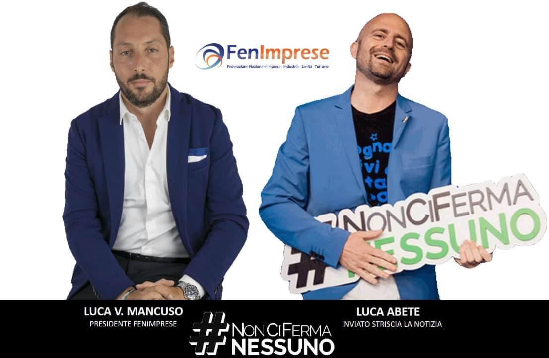 Il Presidente Nazionale Luca Vincenzo Mancuso ha incontrato il famosissimo inviato di Striscia la notizia Luca Abete