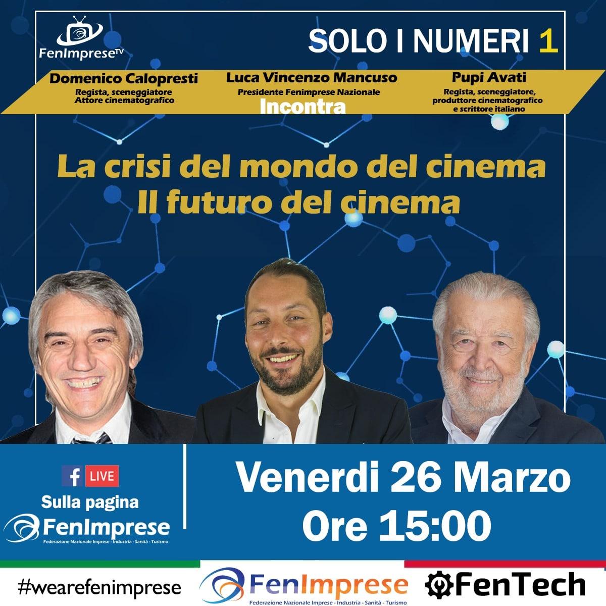 Pupi Avati, Luca Mancuso e Domenico Calopresti si sono incontrati per discutere della crisi del cinema.