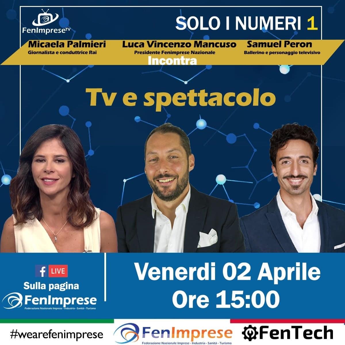 Micaela Palmieri giornalista e conduttrice Rai e Samuel Peron Ballerino e personaggio televisivo con il Presidente Mancuso