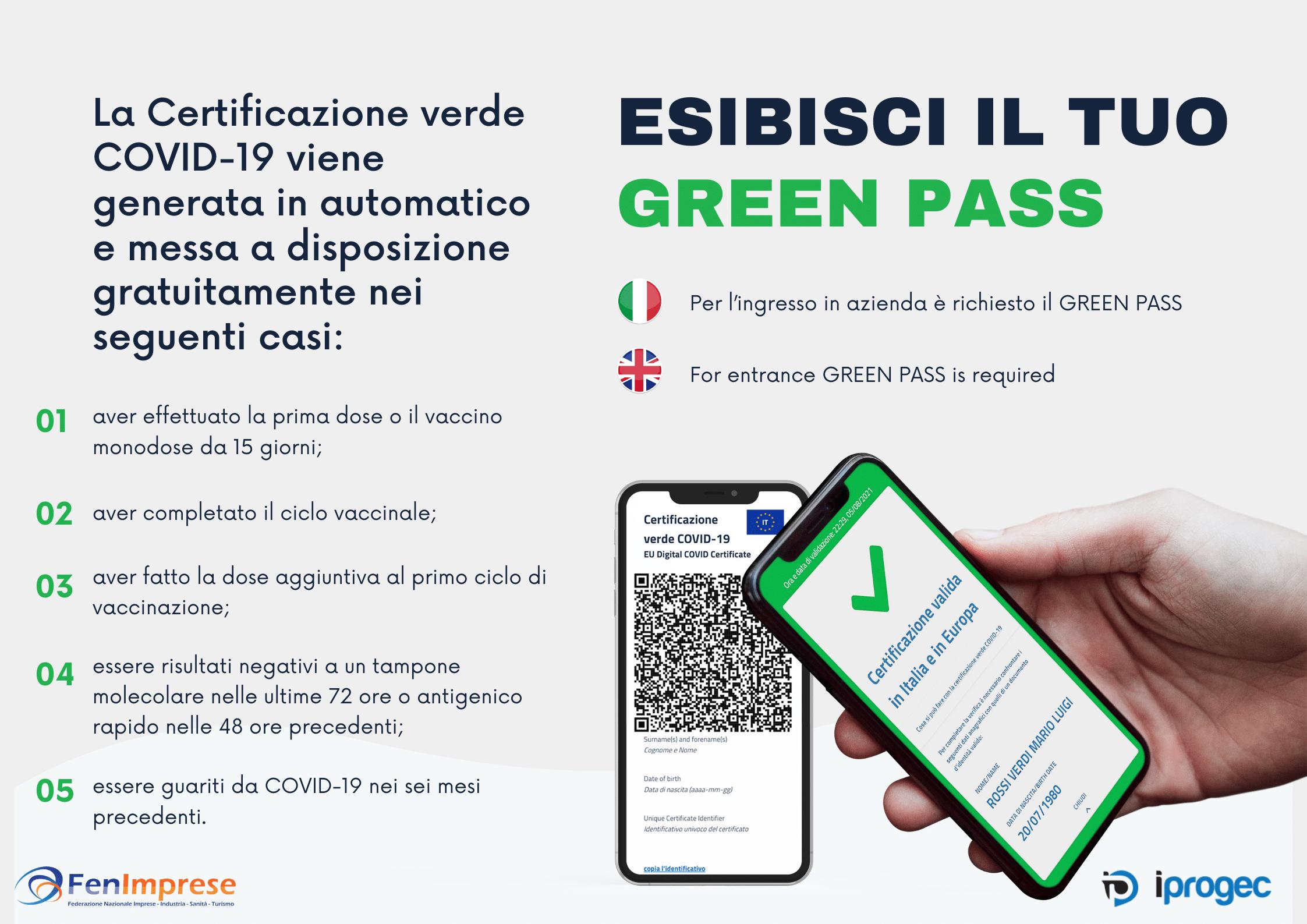 Dal 15 ottobre obbligo di possedere ed esibire il Green Pass per accedere ai luoghi di lavoro. Tutorial VerificaC19.